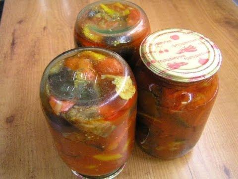 Баклажаны в томатном соусе - видео рецепт