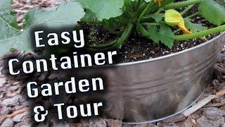 Easy Container Garden, Tips & Tour