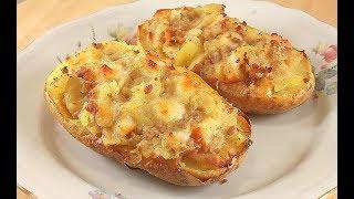 Картошка Фаршированная Мясом и Сыром. Очень Вкусно!