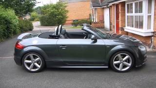Audi TT Cabriolet Convertible 8J Roof Operation with Remote