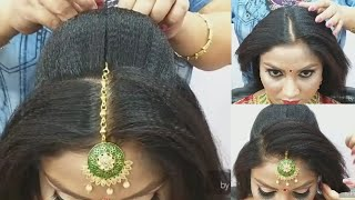 Advance Juda Bridal Hairstyle Step By Step// Easy & Simple Method For Beginner//2019//