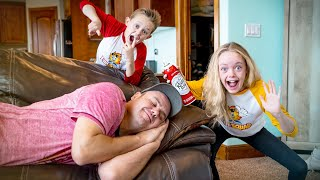 Kids Fun TV Sneaky Jokes Compilation Video: Jokes On Dad, April Fools Jokes, Funny Jokes!
