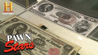 Pawn Stars: Owner Shocks Rick with Two Rare Legal Tender Notes (Season 13) | History