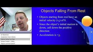 High School Physics: Free Fall