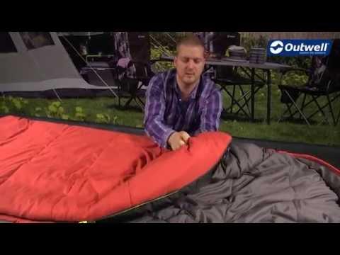 Смотреть видео Спальный мешок Outwell Campion Lux