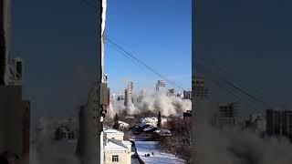 Снос башни в Екатеринбурге