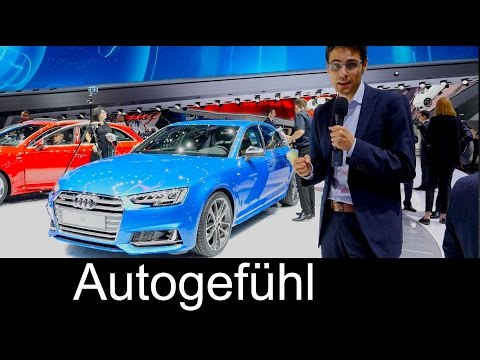 2016 Audi S4 REVIEW at IAA & A4 Avant with premium automotive interior special - Autogefühl
