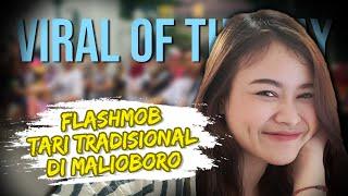 VIRAL HARI INI: Flashmob Tari Tradisional di Malioboro, Yogyakarta, Ini Penjelasan Sang Penari
