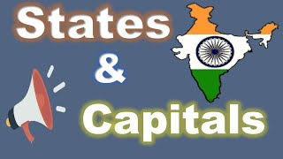 State and Capital name in India with alphabetical order (with voice).