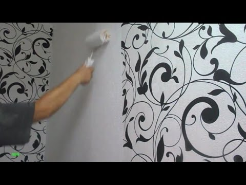 ПОКРАСКА ОБОЕВ  /  Ремонт  /  How to paint the wallpaper / Repair in the house