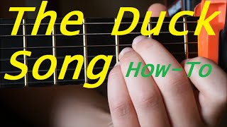 How To Play The Duck Song On Guitar / Watch & Learn Tutorial
