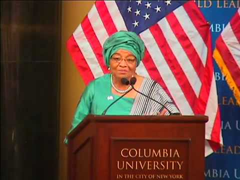 Columbia University World Leaders Forum- Ellen Johnson Sirleaf