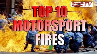 Car Racing Fires Top 10 Indycar and Formula 1 NASCAR