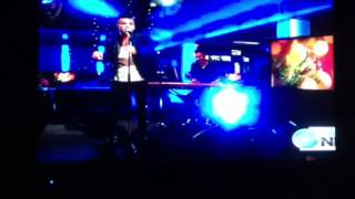 Anthony Callea singing on Late Ten News