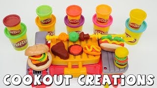 Play Doh Cookout Creations Playdough Toy Set DCTC Amy Jo creates Playdoh Food