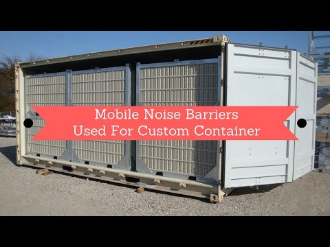 Mobile Noise Barriers with Custom Containers