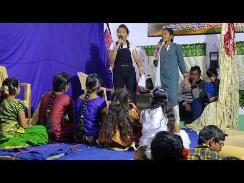 New Telugu Christmas skit 2020 by e.c.m girls
