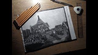 Рисунок ,Город Вайтран,The Elder Scrolls V: Skyrim