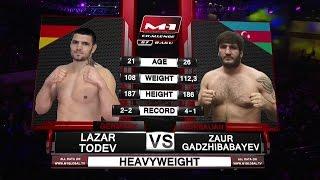 Lazar Todev vs Zaur Gajibabayev, M-1 Challenge 67, June 4th