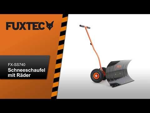 FUXTEC Schneeschaufel mit Rädern Schneeschieber FX-SS740 in Aktion
