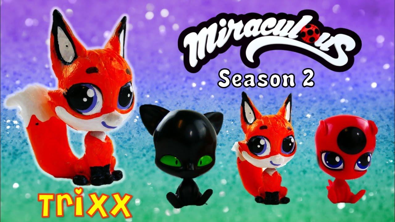 Custom TRIXX Fox Volpina Kwami with Littlest Pet Shop - Miraculous Ladybug Season 2 Toy