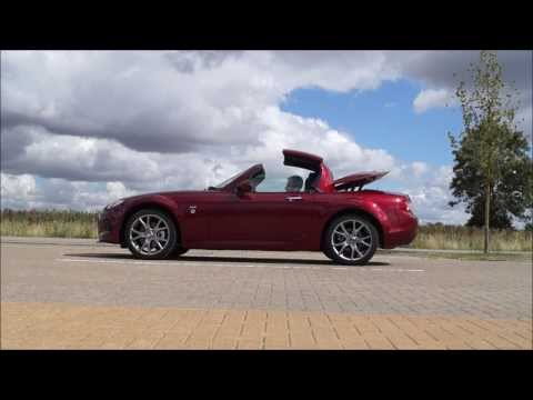 Mazda MX-5 Roadster Coupe Roof Retracting Folding Down