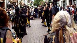 Witchman border morris performing Just as the tide was a flowing at Ely folk festival 2011