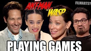 Ant-Man and The Wasp Cast Play Funny Games | Try Not To Laugh 2018