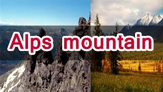 Alps mountains range in Europe | world history in hindi |online class |lesson -36 |short documentary