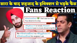fans seem disappointed by Shehzad Deol's eviction in Bigg Boss 14 | BJN