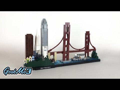 Vidéo LEGO Architecture 21043 : San Francisco, California, USA