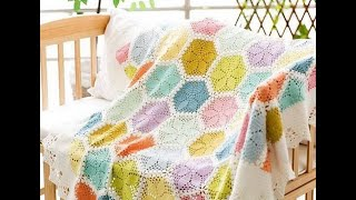 Colorful Crochet Blanket Afghan Free Pattern