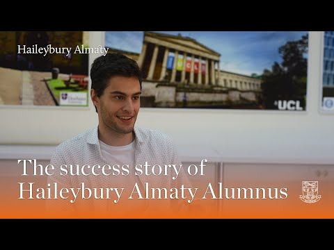 The success story of Haileybury Almaty Alumnus, Volodymir Kyselov
