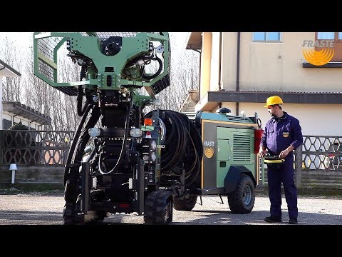 Drill Rig Fraste MITO 40 CS, Separated power pack for foundation