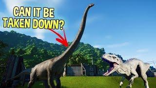 Jurassic World Evolution - T Rex vs Indominus Rex - Can The Largest Dinosaur Be Taken Down?