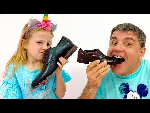 Настя и папа - история для детей про вредные сладости и конфеты