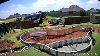 Time lapse video of vinyl pool installation, July 2020.