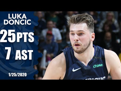 Лака Донкик дропс 25 поинц 7 ассисц фор Mавериккс вс. Джазз | 2019-20 НБА Хигхлигхц