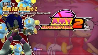 Let's try Amy Adventure 2 feat. everyone in Rouge's outfit - Omochao Edition