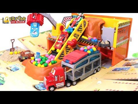 Learning Color Special Disney Pixar Cars Lightning McQueen Mack Truck KineticSand for kids car toys