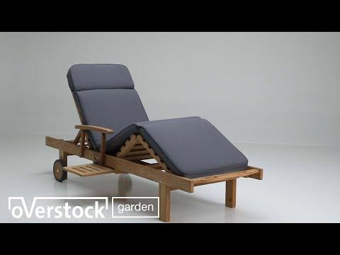 Chaise longue Anton réglable naturel-naturel - teck et teck