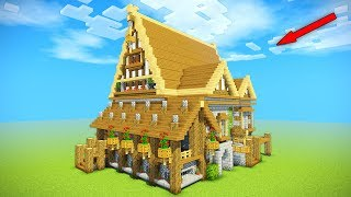Minecraft Building Tutorial How To Build Big Wooden House Big Rustic House Tutorial Huge Minecraftvideos Tv
