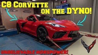 2020 C8 CORVETTE on the DYNO! WAY higher horsepower and torque than GM is reporting!!