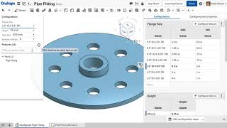 Onshape - Working with Configuration Tables