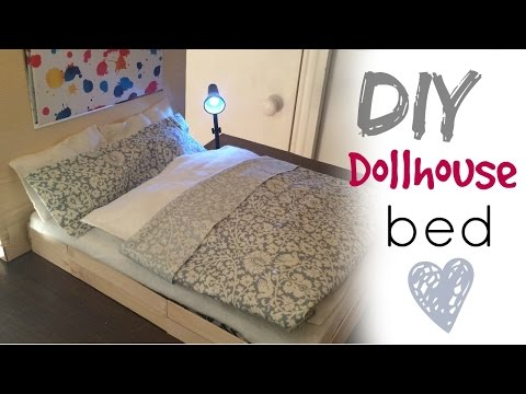 DIY craft:  barbie doll bed