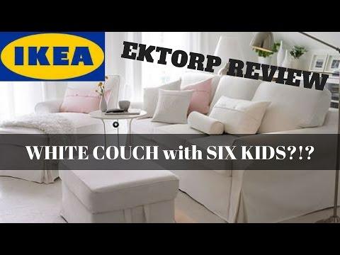 IKEA EKTORP REVIEW – WHITE SLIPCOVERED SOFA WITH SIX KIDS