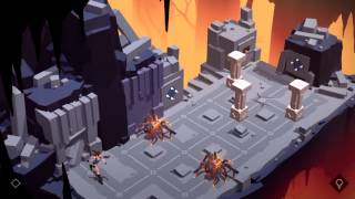 Lara Croft GO Walkthrough The Cave Of Fire - Level 11 - Core of the Mountain