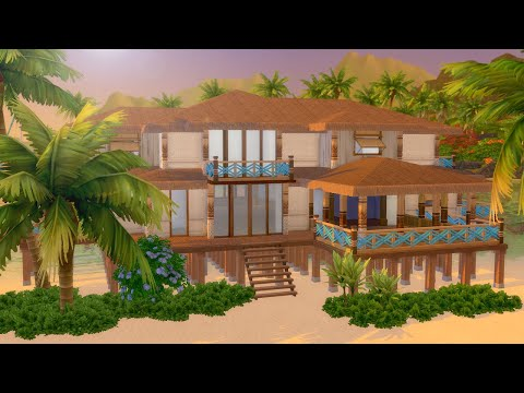 Let's Build a Tropical Beach House in The Sims 4: Island Living (Part 1)