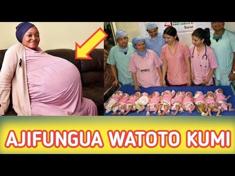 Vrouw in Afrika krijgt een 10 ling! Zie video
