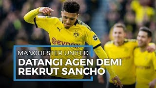 Menjadi Target Utama Transfer, Manchester United Langsung Temui Agen Jadon Sancho